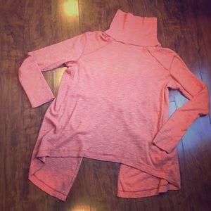 Free People- Cozy Orange Turtleneck Sweater. Sz L